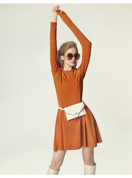 Jackie Winter Dress - caramel