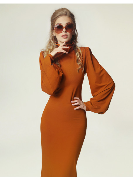 Joan dress - caramel
