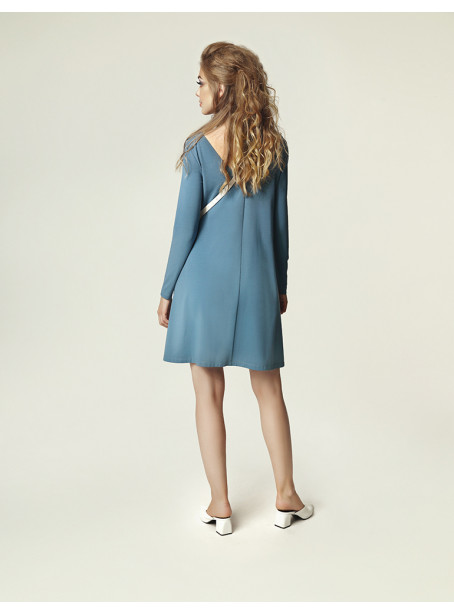 Jackie Winter Dress - dirty blue