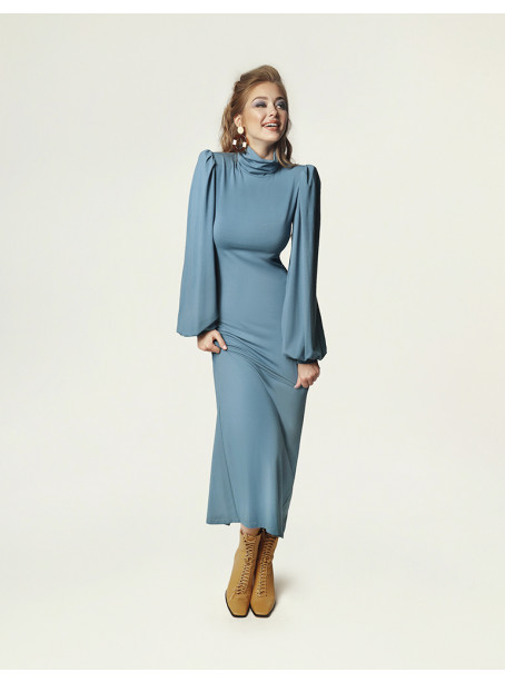 Joan dress - dirty blue