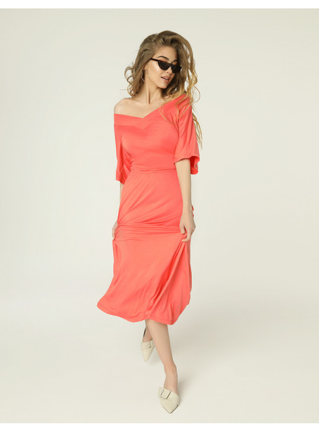 Evie dress - coral